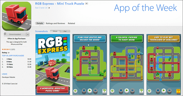 RGB Express - Mini Truck Pullz Apple App of the Week