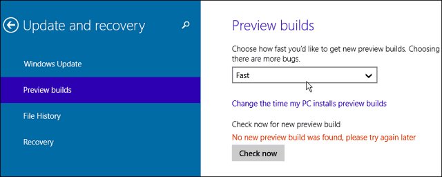 preview builds faster