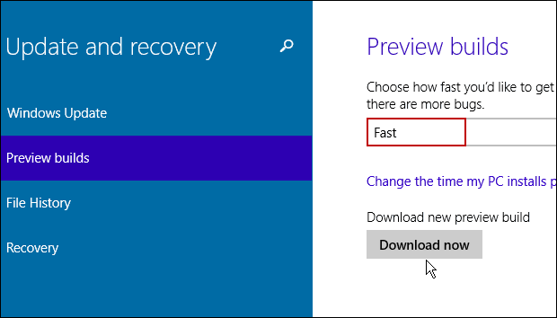 Download Preview Build