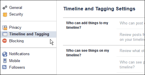 Timeline and Tagging