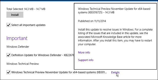 Windows Update November