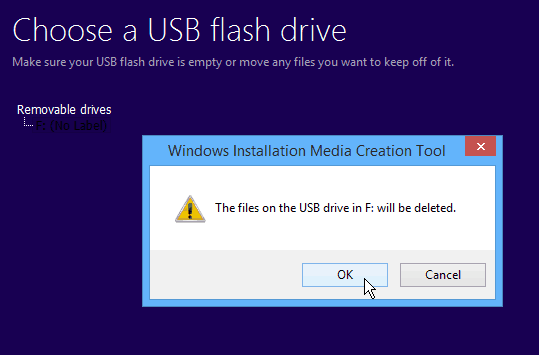 empty flash drive