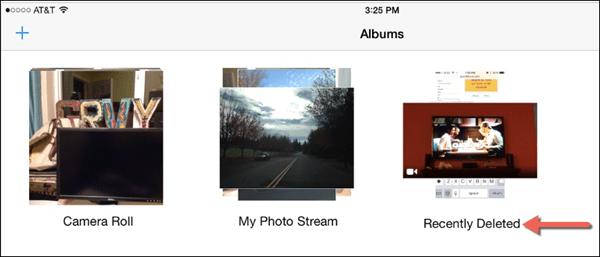 iOS Recently Deleted Album