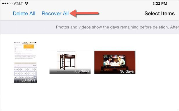 iOS Available Photos and Videos for Recovery