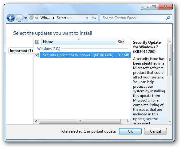 Microsoft Windows 7 Updates