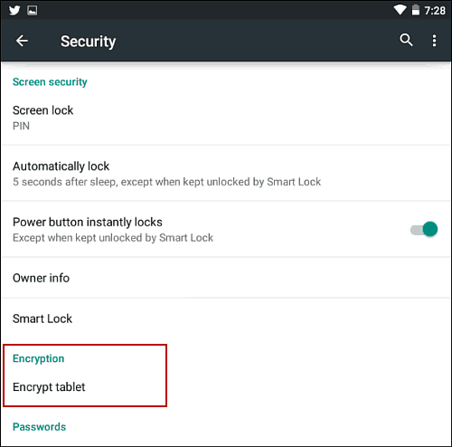 How to Encrypt Your Android 5.0 Tablet or Smartphone