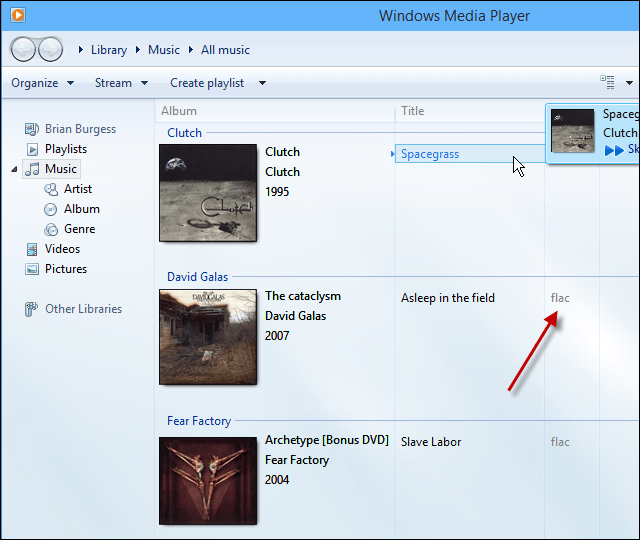 Flac support Windows Media Player