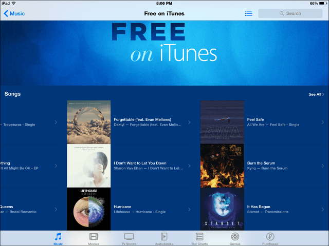 Apple Offers 'Free on iTunes' Section for Songs and TV Shows