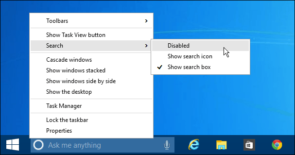 How to Remove the Windows 10 Search Box from the Taskbar