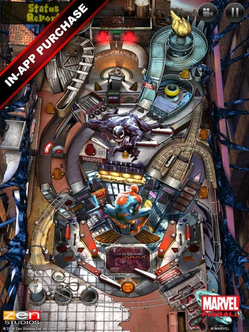 Marvel Pinball for IOS Spinderman Table Add-On