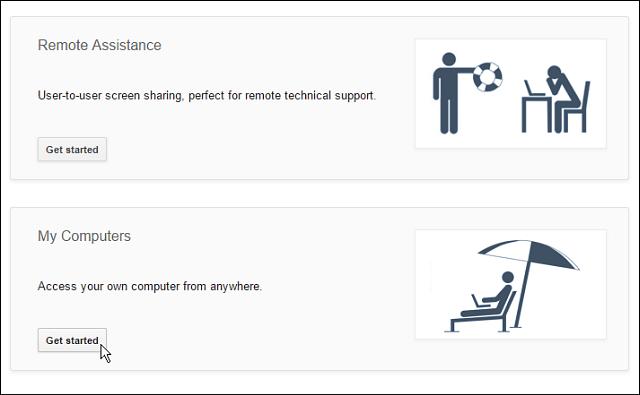 remote desktop connection type