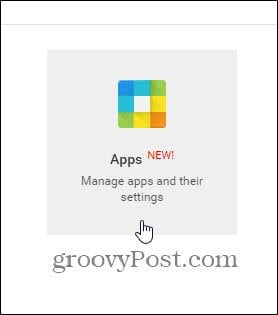 manage google apps and their settings