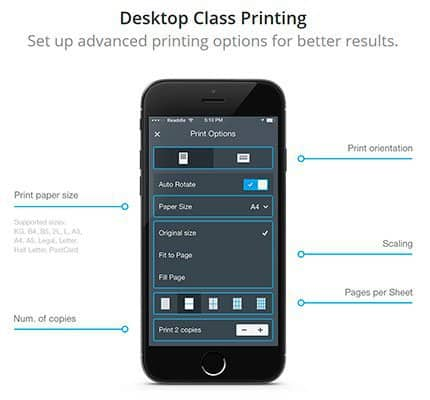 Printer Pro App Features