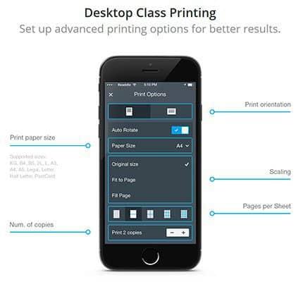 Printer Pro App Features