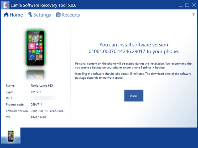 Lumia Recovery Tool Windows 10 for phones
