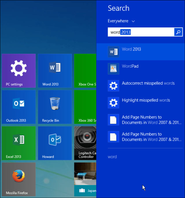 no web results windows 8 search