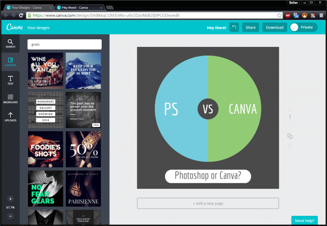 canva online design graphic design photoshop alternative minimal