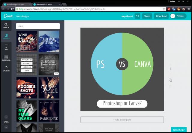 canva online design graphic design photoshop alternative minimal