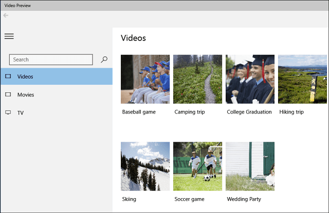 Microsoft Videos Preview App