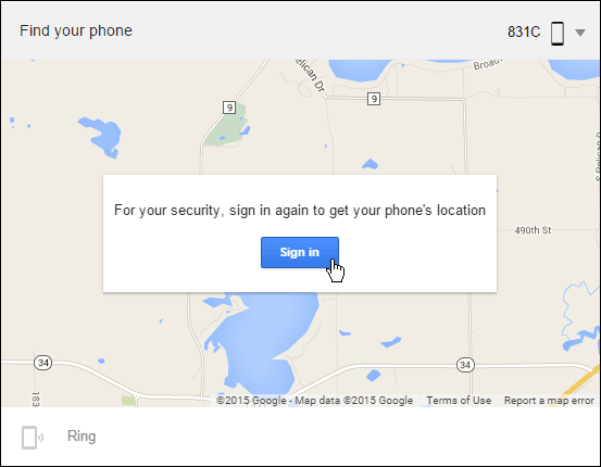 Find your phone Google
