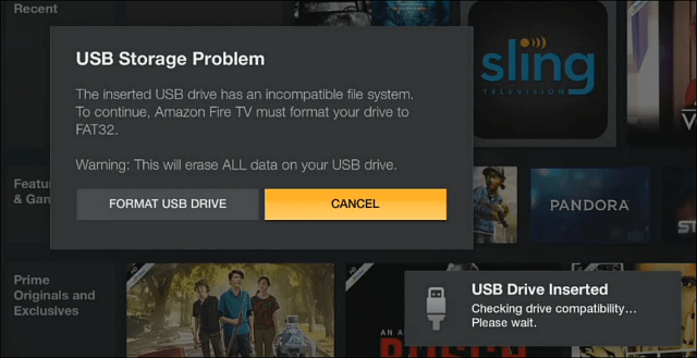 Fire TV FAT32 Needs Format