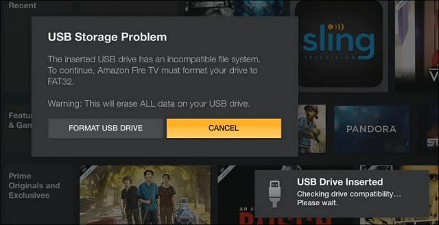 Fire TV FAT32 Needs Format