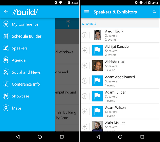 Microsoft Build Mobile App