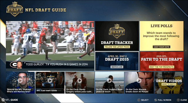 NFL Draft Guide Xbox One
