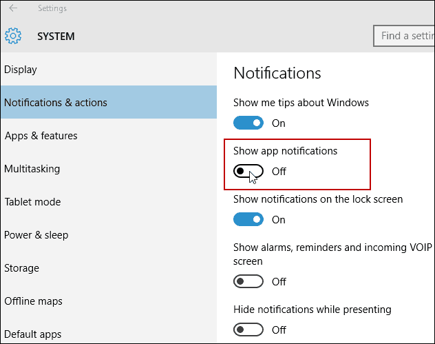 disable all App notifications