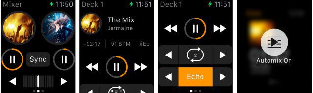 djay 2 Apple Watch Screen Shots
