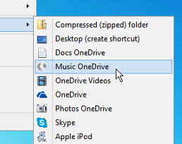 How to Add OneDrive to the Windows Send To Menu