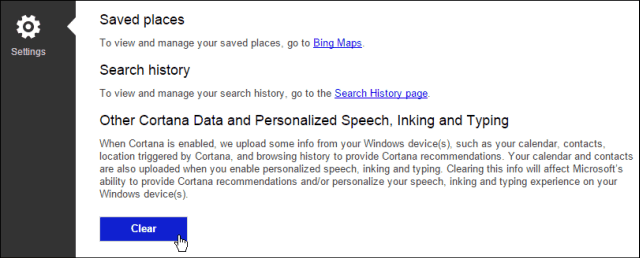 Clear web history