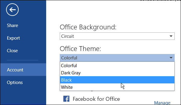 Office Color Theme