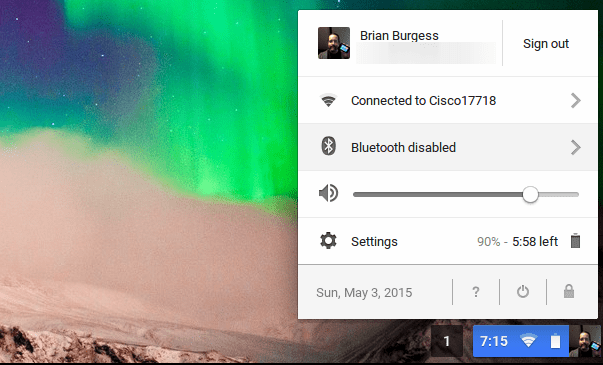 how to change screen brightness on chromebook