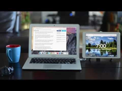 extend displays to windows or mac with iPad duet display