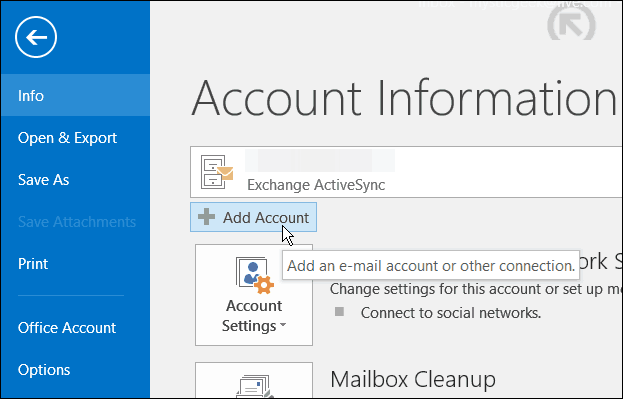 Outlook 2016: Set Up Google and Microsoft Email Accounts
