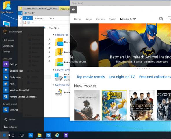 Windows 10 Tip: Make the Start Menu Space Efficient