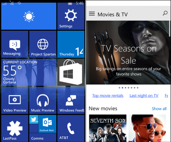 Windows 10 for Phones Build 10080