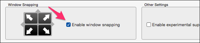Window Snapping feature