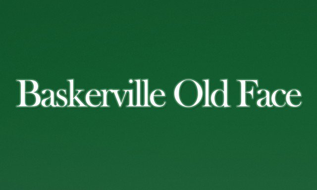 2 - Baskerville Old Face