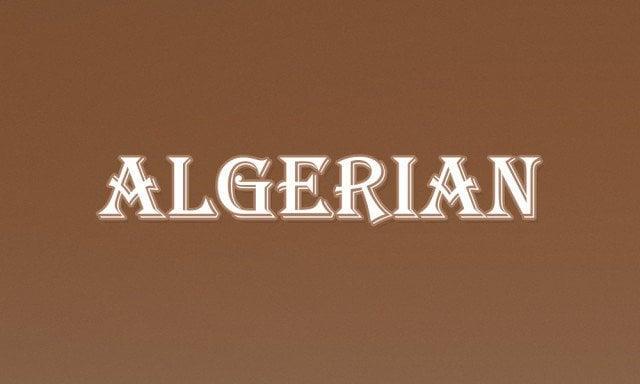 3 - Algerian