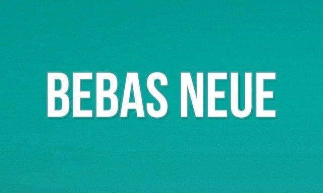 3 - Bebas Neue