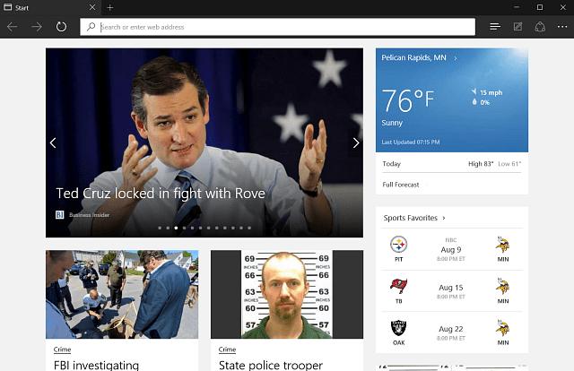 Microsoft Edge Browser