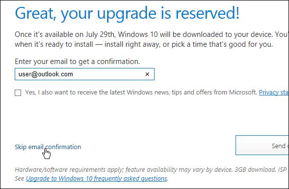 skip email