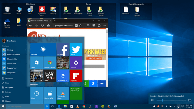 Windows 10 Hero Desktop