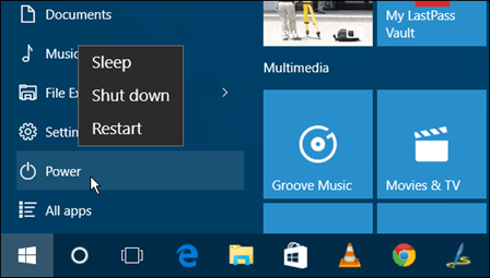 my start button not working windows 10