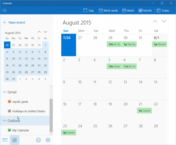 Add Gmail and Other Email to Windows 10 Mail & Calendar