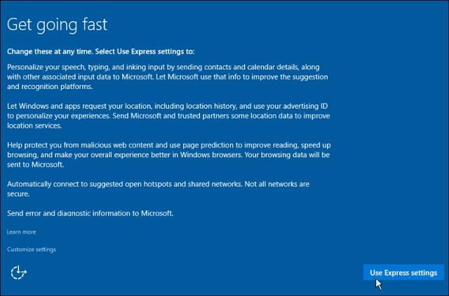 Epress Settings Windows 10
