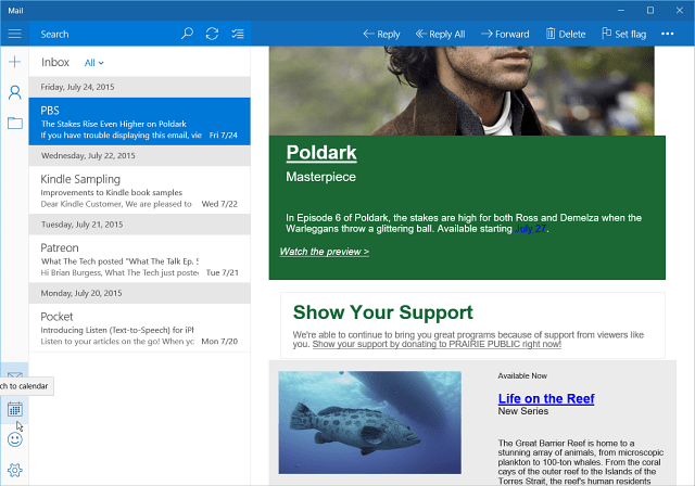 Inbox Mail App Windows 10