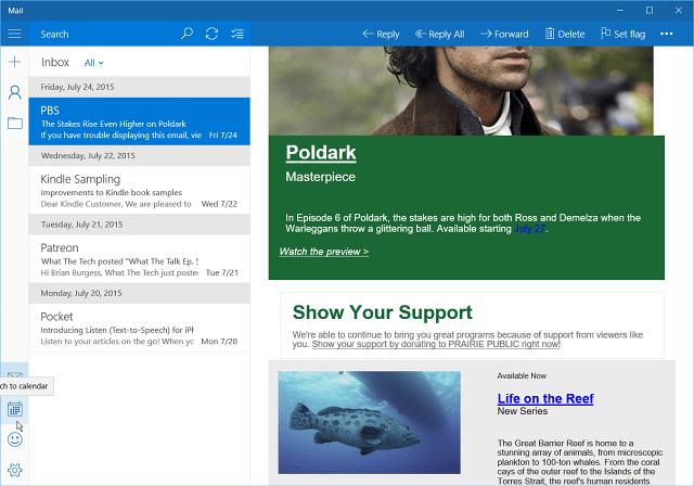 Inbox Mail App Windows 10